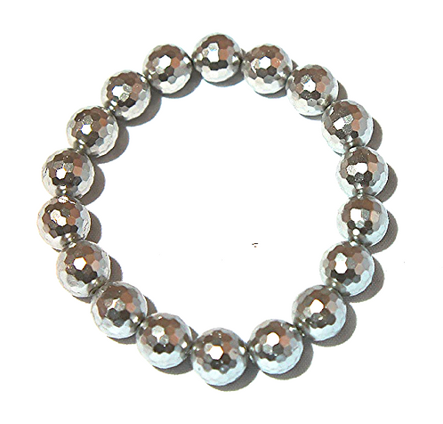 SIlver Faceted Shell Pearl