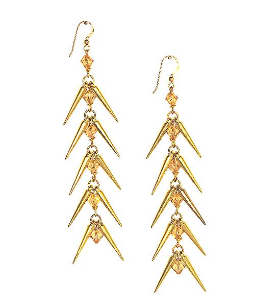 Herringbone Earrings - Gold