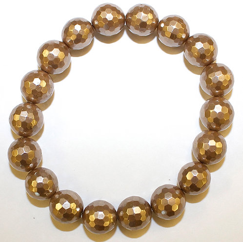 Gold Faceted Shell Pearl
