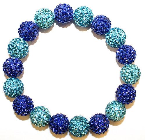 All Pave - Light Blue Cobalt