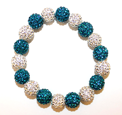All Pave - Turquoise White
