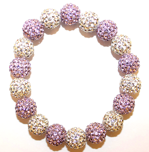 All Pave - Lilac White
