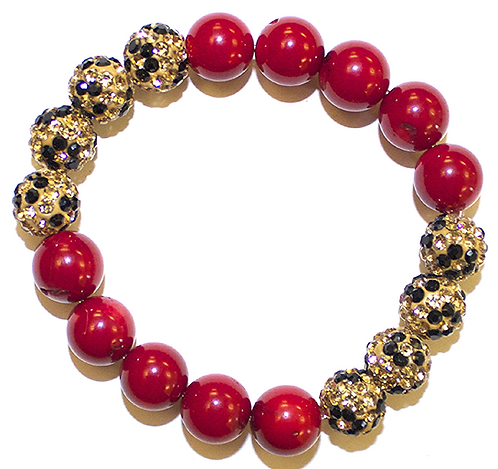 Red Coral Leopard Print