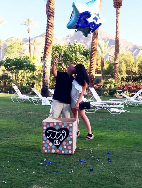 It's a... BOY! Andre's gender reveal!