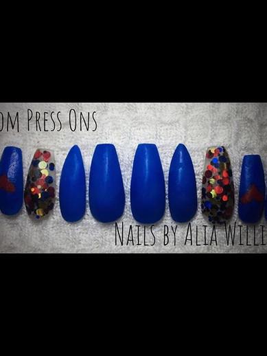 No top coat! #custompressonnails #nails