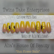 """""""Sun Flowers Nails"""" another beautiful pr"""