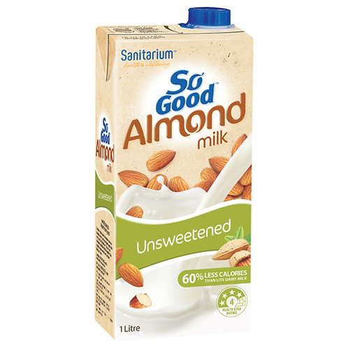 So Good Almond Milk Unsweetened 1Lt
