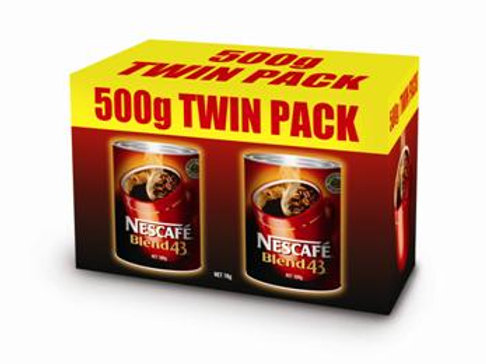 Nescafe Blend 43 Instant Coffee 1kg (500g Twin Pack)