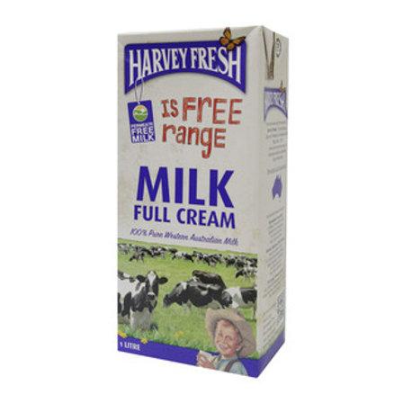 Harvey Fresh Full Cream UHT Milk 1Ltr