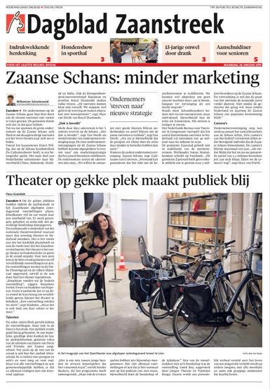 Dagblad Zaanstreek/NHD, 28-1-2019