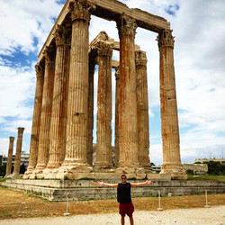 The Greeks were so excited the Carter's were coming they built us a temple! #Athens #Greece #Zeus
