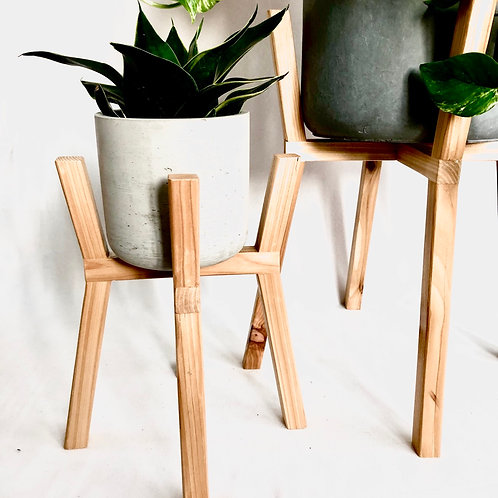 Wood plant stands
