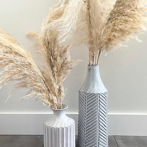 Ceramic vase with narrow neck