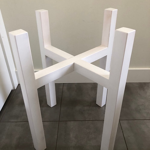 Wood plant stand -white