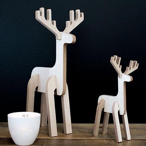 Blitzen wood reindeer
