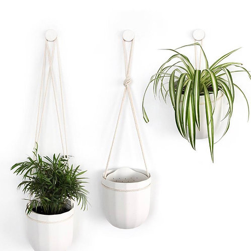 Wallygro Loop planter-white