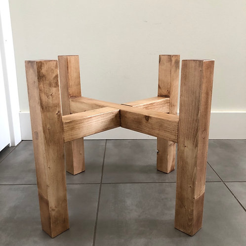 Wood plant stands-light stain