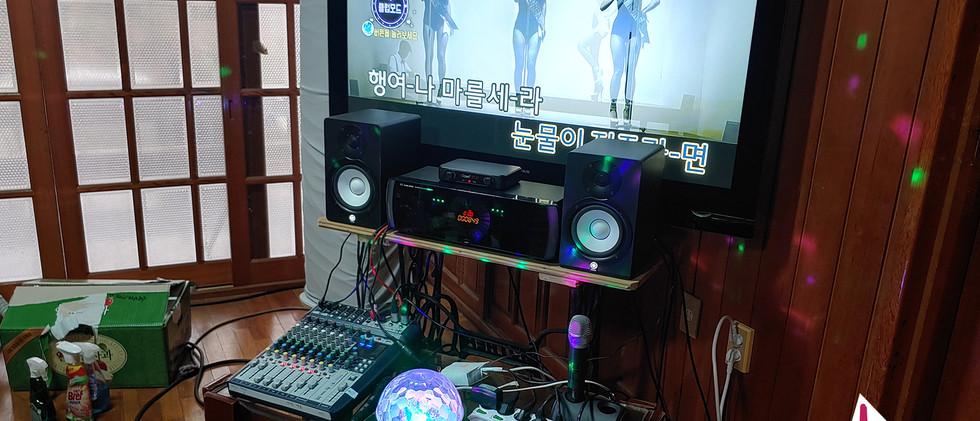 210106 서귀포시 개인 노래방 반주기 설치, 시공: 탱크음향