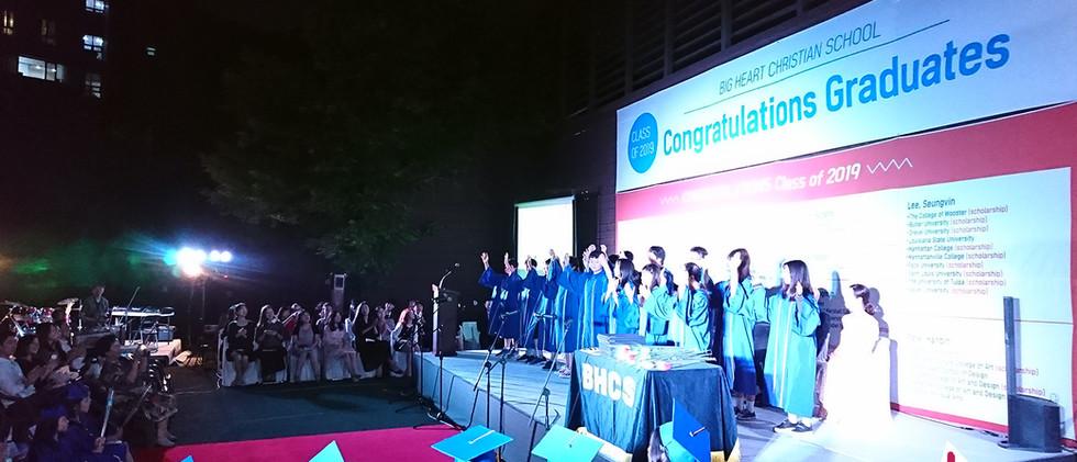 190612 2019 BHCS 졸업식 음향 오퍼레이터:  탱크음향
