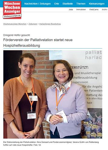 Wochenanzeiger Verena Plettenberg hospiz