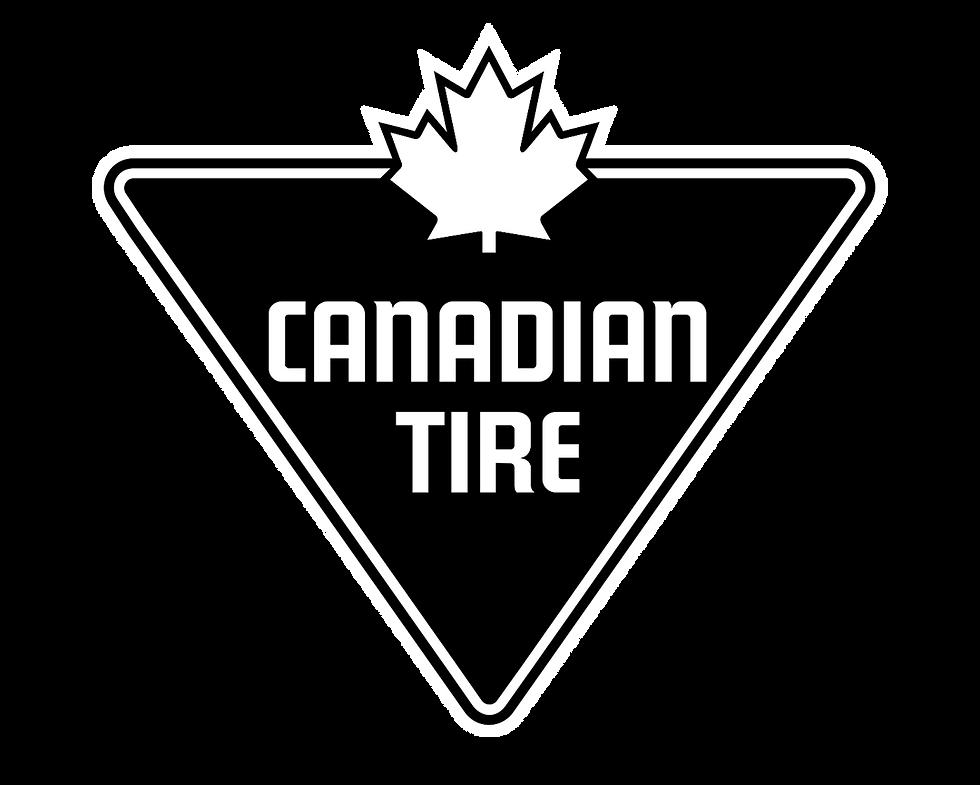 Black & White Canadian Tire Logo