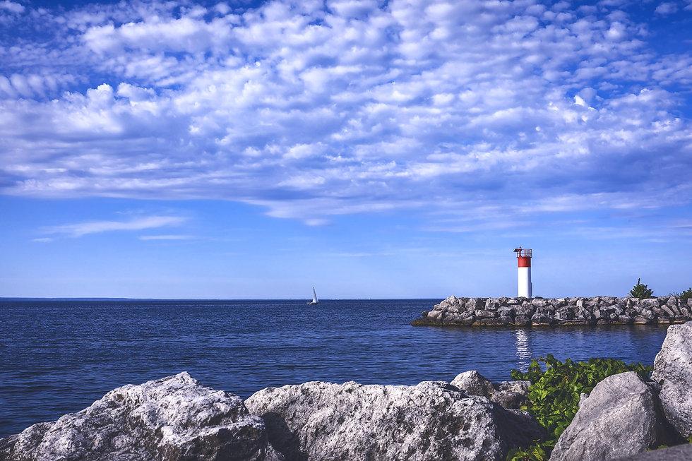 Lighthouse at Lakeside Park in Oakville Ontari