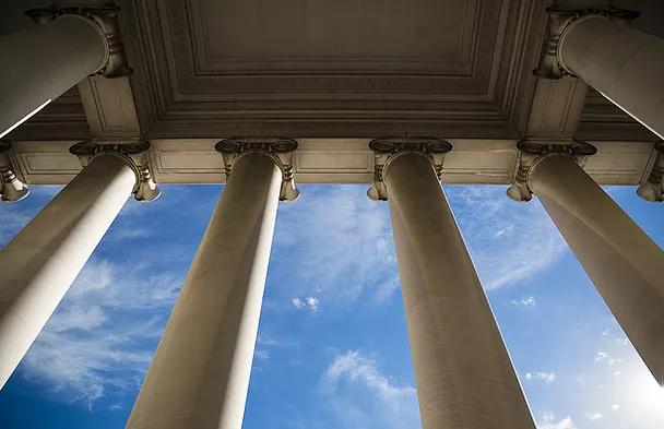 government building pillars