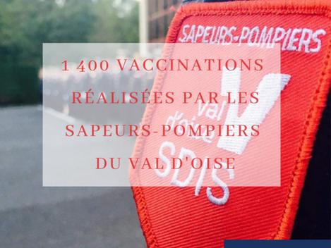 Les sapeurs-pompiers du Val d'Oise en première ligne sur la vaccination !