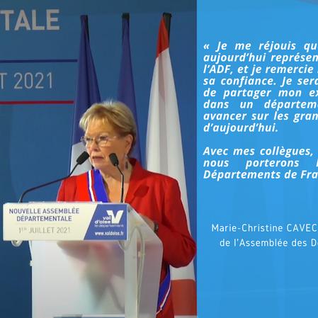 Marie-Christine Cavecchi élue Vice-Présidente de l'ADF