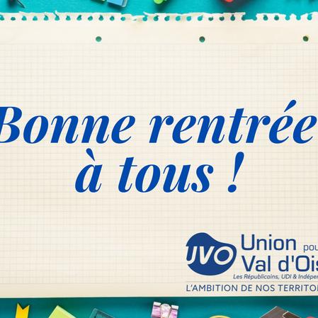 Bonne rentrée en Val d'Oise !