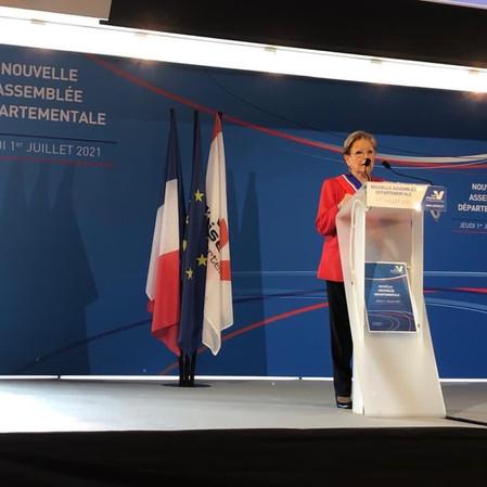Marie-Christine Cavecchi, réélue Présidente du Conseil départemental du Val d'Oise !