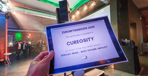 "Cureosity won the Digital Health Award in the category ""Best future impact""."