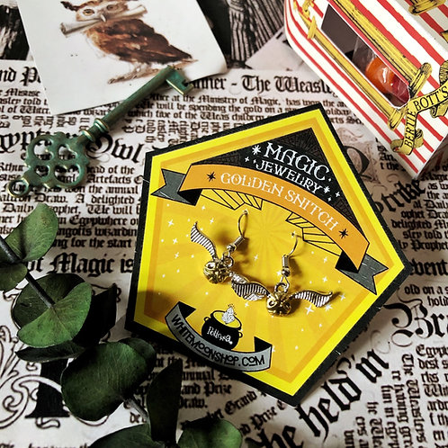 Aretes Golden Snitch  - Harry Potter