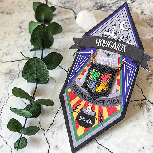 Collar Escudo Hogwarts Artesanal - Harry Potter