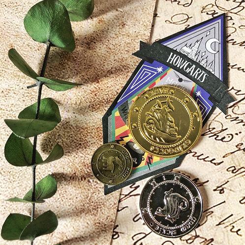 Set de 3 Monedas Gringotts - Harry Potter