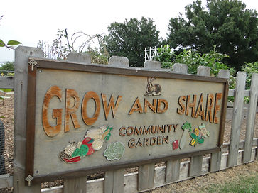 Grow and Share Community Garden Sign