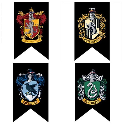 Banderas Casas Hogwarts Black- Harry Potter