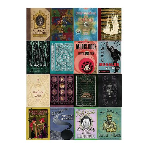 Set 12 Tarjetas Portadas Libros Harry Potter