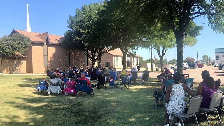 Services on the lawn