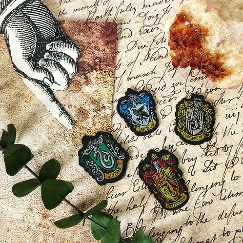 Set de 4 Parches Escudos Hogwarts- Harry Potter