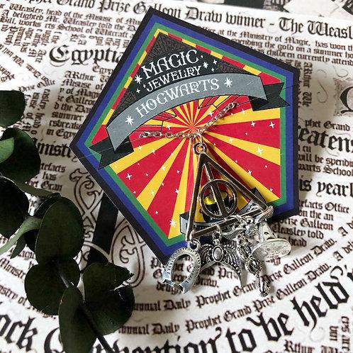 Collar Reliquias de la muerte varios dijes  - Harry Potter