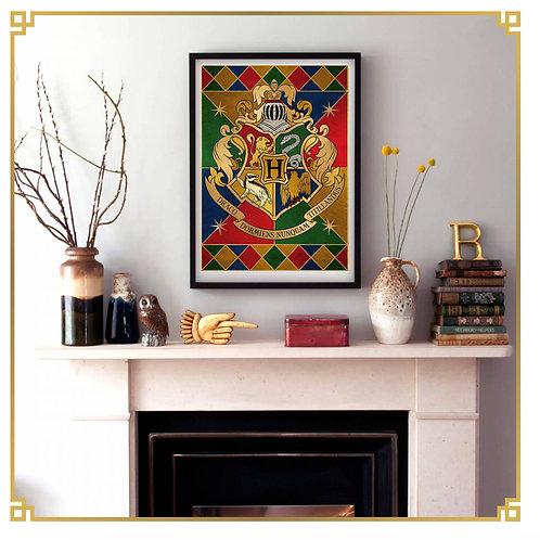 Set 5 Posters Casas Hogwarts- Harry Potter