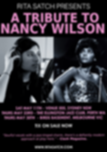 Nancy Wilson tribute show tour