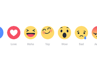 Not for long, Facebook Reactions.