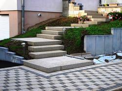 Aménagement d'escalier paysager