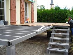 Terrasse métalique