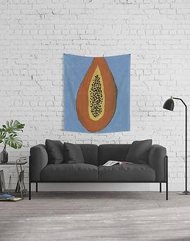 Papaya Wall Tapesty.jpg