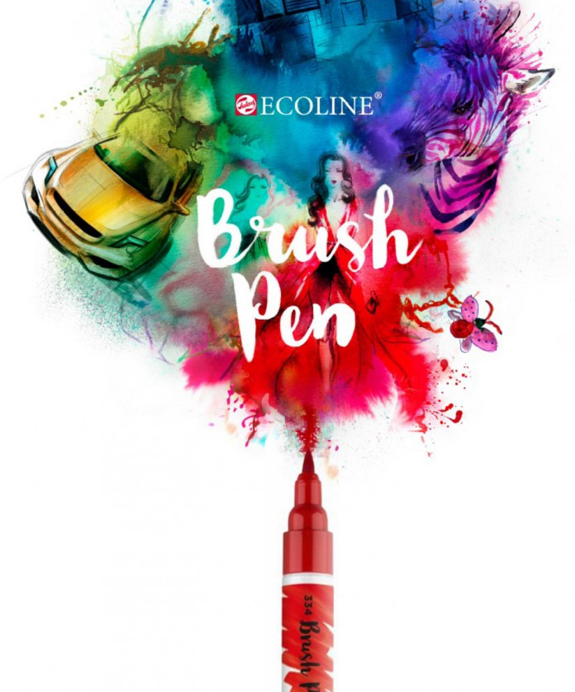 ¡NUEVO!-ECOLINE-BRUSH-PEN-(Rotulador-Punta-Pincel)_