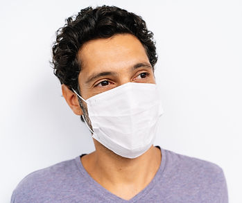 Man wearing a face mask