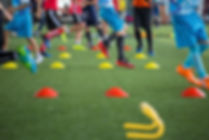 Soccer ball tactics on grass field with